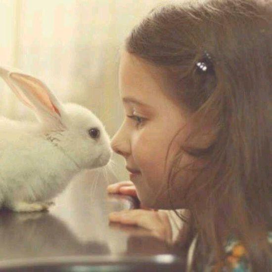 想不想让小兔子和你接吻?