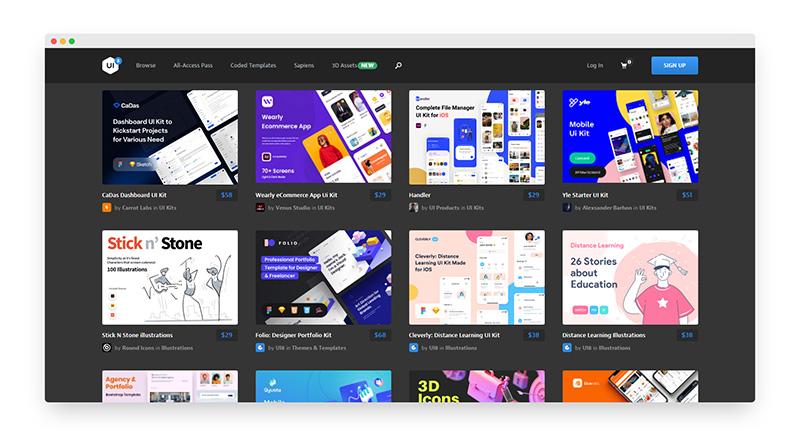 UI8 | 全球著名UI设计资源素材站-希望zz