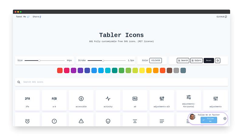 Tabler Icons   一键生成免费SVG图标集-希望zz